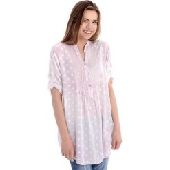 Koszula - 62-1574 ROSA. Czerwone bluzki asymetryczne Unisono, s, z aplikacjami, z elastanu. Za 69,00 zł.
