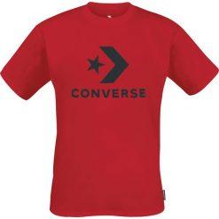 Converse Star Chevron Tee T-Shirt czerwony. Czerwone t-shirty męskie z nadrukiem Converse, m, z bawełny, z okrągłym kołnierzem. Za 62,90 zł.
