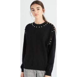 Bluza z perłami - Czarny. Czarne bluzy damskie Sinsay, l. Za 49,99 zł.