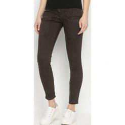Spodnie damskie: Brązowe Spodnie Ferity