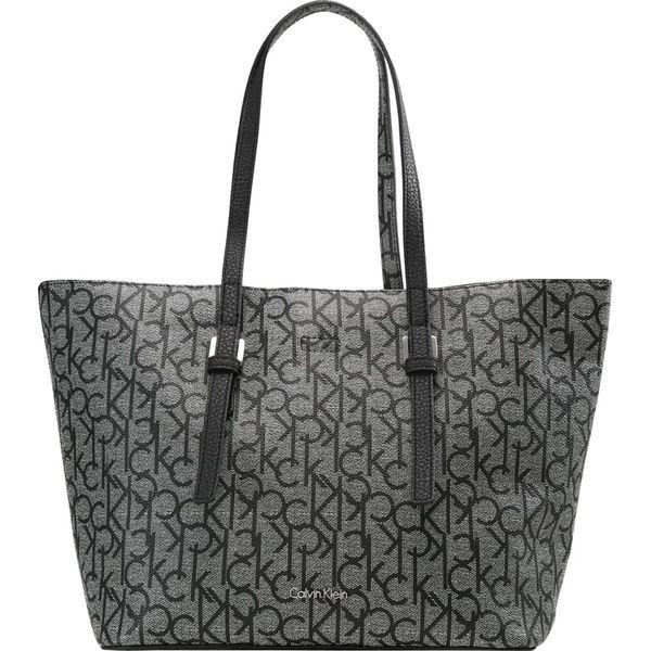 e8abc0807936a Calvin Klein Torba na zakupy black white - Czarne shopper bag damskie marki  Calvin Klein. Za 599