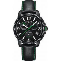 PROMOCJA ZEGAREK CERTINA DS Podium Chrono Lap Timer C034.453.36.057.02. Czarne zegarki męskie CERTINA, ze stali. W wyprzedaży za 2543,20 zł.