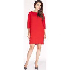 Sukienki: Czerwona Sukienka z Dekoltem na Plecach