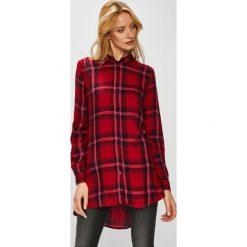 Only - Koszula. Brązowe koszule damskie w kratkę ONLY, z tkaniny, casualowe, z długim rękawem. Za 129,90 zł.