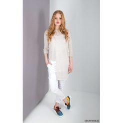 Spodnie z wysokim stanem: MIA PANTS Spodnie damskie białe