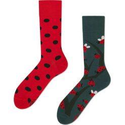 Many Mornings - Skarpetki Dots And Bugs. Czerwone skarpetki damskie marki DOMYOS, z elastanu. Za 24,90 zł.