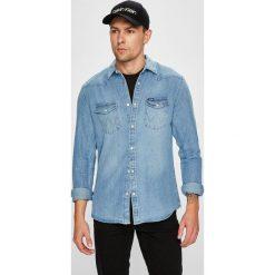 Wrangler - Koszula. Szare koszule męskie jeansowe Wrangler, m, z klasycznym kołnierzykiem, z długim rękawem. Za 259,90 zł.
