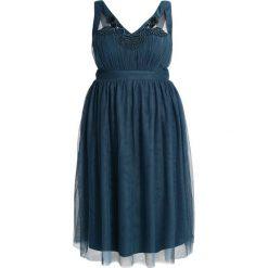 Sukienki hiszpanki: Little Mistress Curvy PEACOCK  Sukienka koktajlowa turquoise