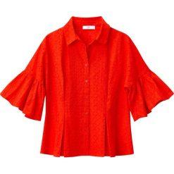 Bluzki damskie: Koszulka z angielskim haftem, rozszerzane rękawy