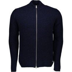 Sweter rozpinany w kolorze granatowym. Niebieskie golfy męskie marki Marc O'Polo, m, prążkowane, ze stójką. W wyprzedaży za 434,95 zł.