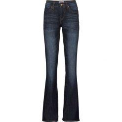 Wygodne dżinsy ze stretchem BOOTCUT bonprix ciemnoniebieski. Niebieskie jeansy damskie bootcut marki bonprix. Za 74,99 zł.