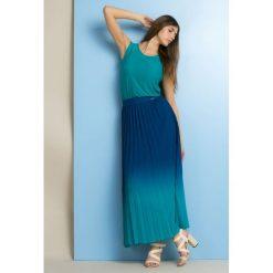Długie spódnice: Cieniowana spódnica plisowana