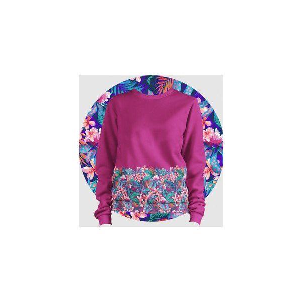d9c6364e47b8 Bluza Fullprint Kwiatki Damska - Różowe bluzy damskie Failfake
