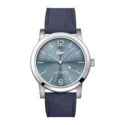 """Zegarek """"METRO-2010925"""" w kolorze granatowo-srebrnym. Niebieskie, analogowe zegarki męskie Lacoste, srebrne. W wyprzedaży za 427,95 zł."""