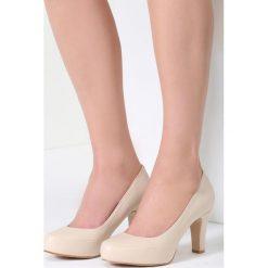 Buty ślubne damskie: Beżowe Czółenka Marvelous