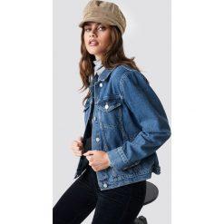 NA-KD Kurtka jeansowa - Blue. Niebieskie kurtki damskie jeansowe NA-KD. Za 202,95 zł.