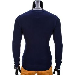 BLUZA MĘSKA BEZ KAPTURA B700 - GRANATOWA. Niebieskie bluzy męskie Ombre Clothing, m, z bawełny, bez kaptura. Za 59,00 zł.