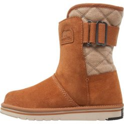 Sorel NEWBIE Śniegowce elk/british. Czarne buty zimowe damskie marki Sorel, z materiału. Za 399,00 zł.