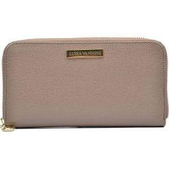 Portfele damskie: Skórzany portfel w kolorze szarobrązowym – 20 x 11 x 2,5 cm