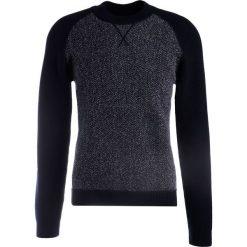 Swetry klasyczne męskie: Falke Sweter blau/grau
