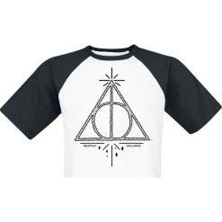 T-shirty męskie z nadrukiem: Harry Potter Deathly Hallows T-Shirt biały/czarny