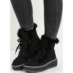Czarne Śniegowce Everything is Perfect. Czarne buty zimowe damskie Born2be. Za 99,99 zł.