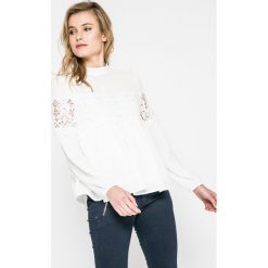 Answear - Bluzka. Niebieskie bluzki nietoperze marki ARTENGO, z elastanu, ze stójką. W wyprzedaży za 69,90 zł.