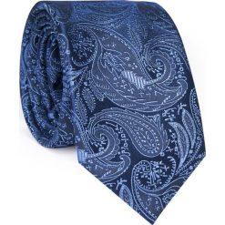 Jedwabny krawat  KWFR000278. Niebieskie krawaty męskie Giacomo Conti, z jedwabiu. Za 129,00 zł.