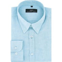 Koszula MARCO 16-01-22-K. Niebieskie koszule męskie na spinki Giacomo Conti, na lato, m, z klasycznym kołnierzykiem. Za 199,00 zł.
