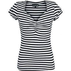 Bluzki asymetryczne: Sourpuss Honey Striped Koszulka damska czarny/biały
