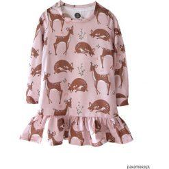 Sukienka Roe-Deer Peach. Pomarańczowe sukienki dziewczęce dzianinowe Pakamera, z nadrukiem. Za 109,00 zł.