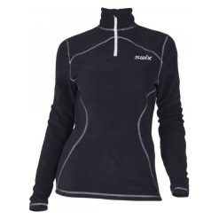 Bluzy damskie: Swix Damska Bluza Adventure Fleece Polo Black Xl