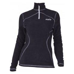 Bluzy polarowe: Swix Damska Bluza Adventure Fleece Polo Black Xl
