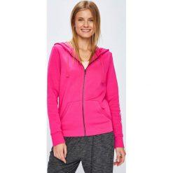 Adidas Performance - Bluza. Różowe bluzy rozpinane damskie adidas Performance, l, z nadrukiem, z bawełny, z kapturem. W wyprzedaży za 199,90 zł.