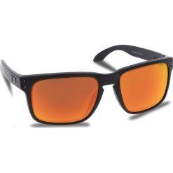Okulary przeciwsłoneczne OAKLEY - Holbrook OO9102-E255 Matte Black/Prizm Ruby. Czarne okulary przeciwsłoneczne męskie aviatory Oakley, z tworzywa sztucznego. W wyprzedaży za 479,00 zł.