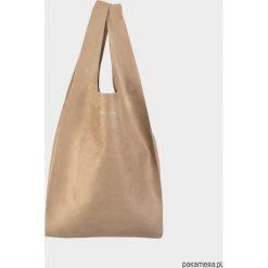 Shopper bag damskie: HOBO BAG – Karmelowa
