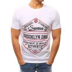 T-shirty męskie z nadrukiem: T-shirt męski z nadrukiem biały (rx2611)
