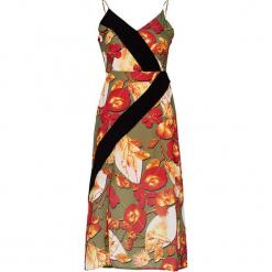 Sukienka w kolorze khaki ze wzorem. Brązowe sukienki Jimmy Sanders, l, midi. W wyprzedaży za 139,95 zł.