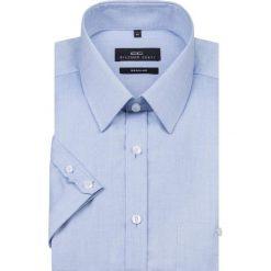Koszula SIMONE KKNR000006. Niebieskie koszule męskie na spinki Giacomo Conti, na lato, m, z bawełny, z krótkim rękawem. Za 199,00 zł.