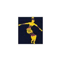 T-shirt Disco King. Niebieskie t-shirty męskie z nadrukiem marki bonprix, m, z klasycznym kołnierzykiem, z długim rękawem. Za 59,00 zł.