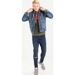 Bejsbolówki męskie: Hype SQUARE ROSE Bluza z kapturem khaki