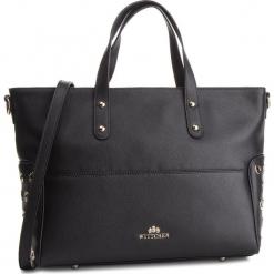Torebka WITTCHEN - 87-4E-410-1 Czarny. Czarne torebki klasyczne damskie Wittchen, ze skóry. W wyprzedaży za 489,00 zł.