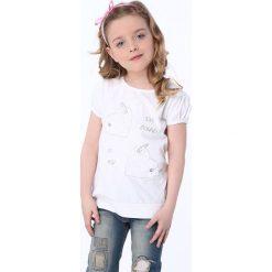 T-shirty dziewczęce: Koszulka z serduszkami biała NDZ8205