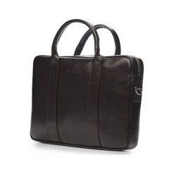 Skórzana męska torba na laptopa Ciemny brąz Solier William. Czarne torby na laptopa marki Solier, ze skóry. Za 419,00 zł.