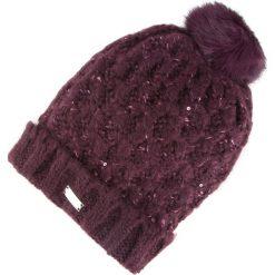 81-HF-014-F Czapka damska. Fioletowe czapki zimowe damskie Wittchen, z materiału. Za 69,00 zł.