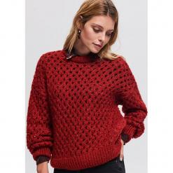 Sweter z domieszką wełny - Bordowy. Czerwone swetry klasyczne damskie Reserved, m, z wełny. Za 139,99 zł.