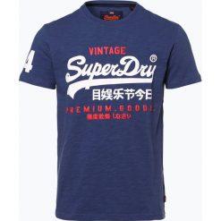 Superdry - T-shirt męski, niebieski. Niebieskie t-shirty męskie Superdry, m. Za 99,95 zł.