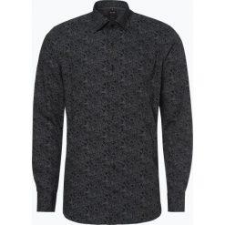 Olymp Level Five - Koszula męska łatwa w prasowaniu, czarny. Czarne koszule męskie na spinki OLYMP Level Five, m, w kropki, z klasycznym kołnierzykiem. Za 249,95 zł.