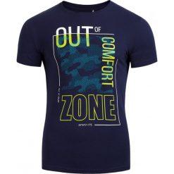 T-shirt męski TSM617 - ciemny granatowy - Outhorn. Czarne t-shirty męskie marki Outhorn, na lato, z bawełny. Za 39,99 zł.
