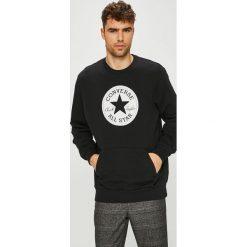 Converse - Bluza. Czarne bluzy męskie rozpinane marki Converse, l, z nadrukiem, z bawełny, bez kaptura. Za 199,90 zł.